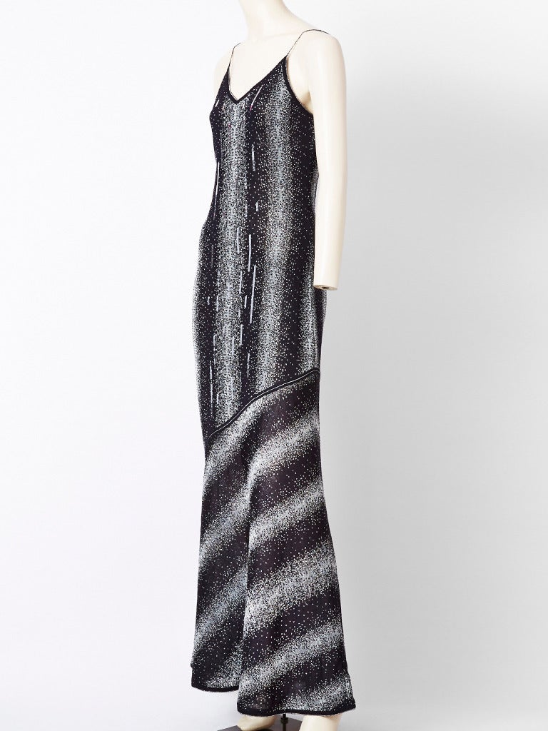 John Galliano Bias Cut Lurex Knit Evening Dress with  Sequins 2