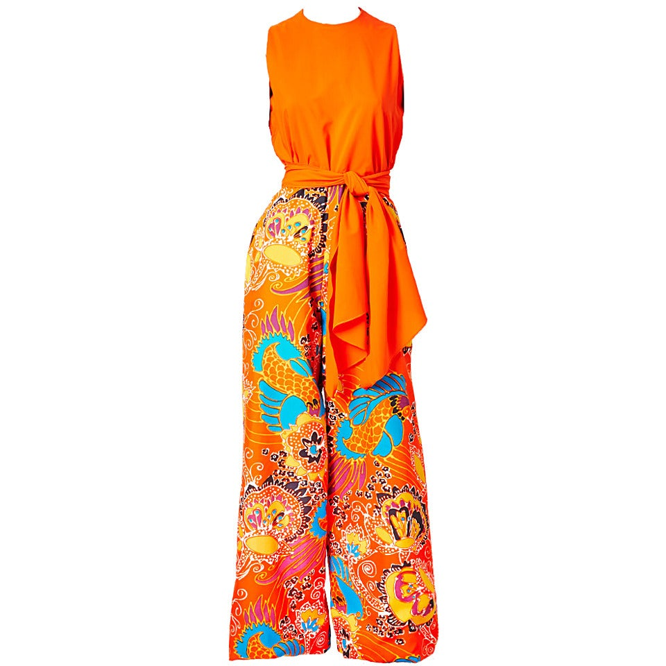 Beene Boutique Patterned Jumpsuit For Sale