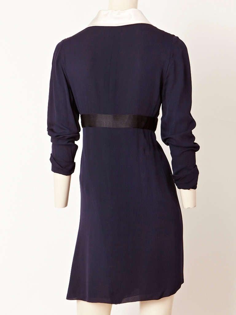 Chanel Midnight Blue Chiffon Wrap Dress 3