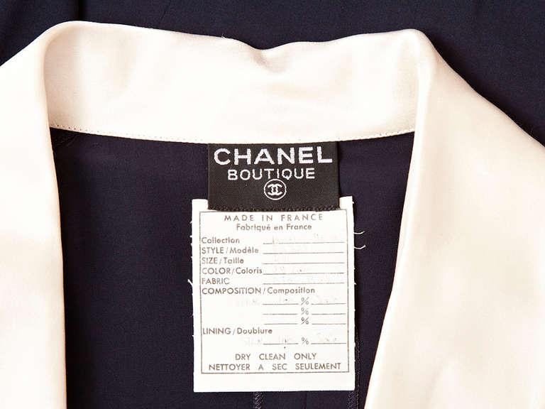 Chanel Midnight Blue Chiffon Wrap Dress 4