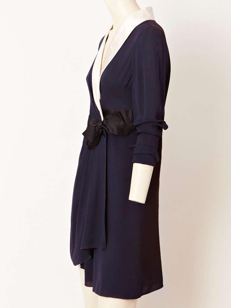 Chanel Midnight Blue Chiffon Wrap Dress 2