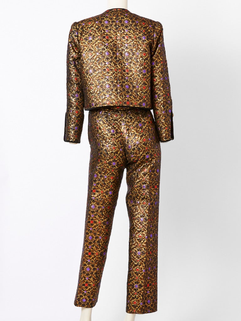 Yves Saint Laurent Brocade Dinner Suit 3