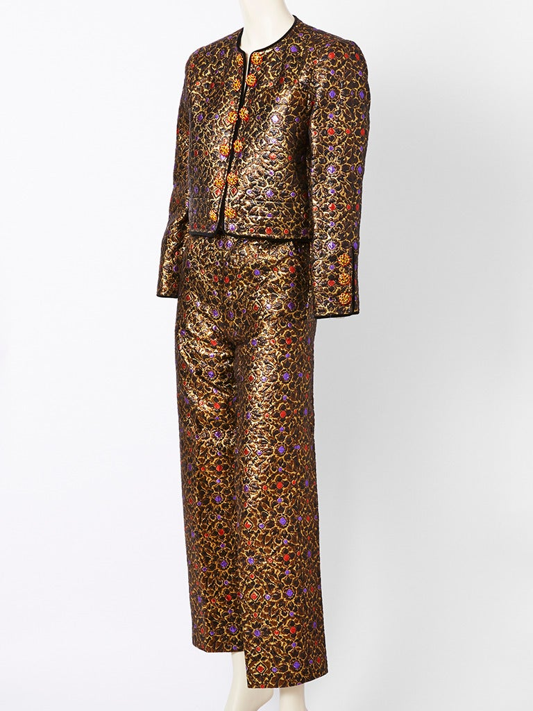 Yves Saint Laurent Brocade Dinner Suit 2