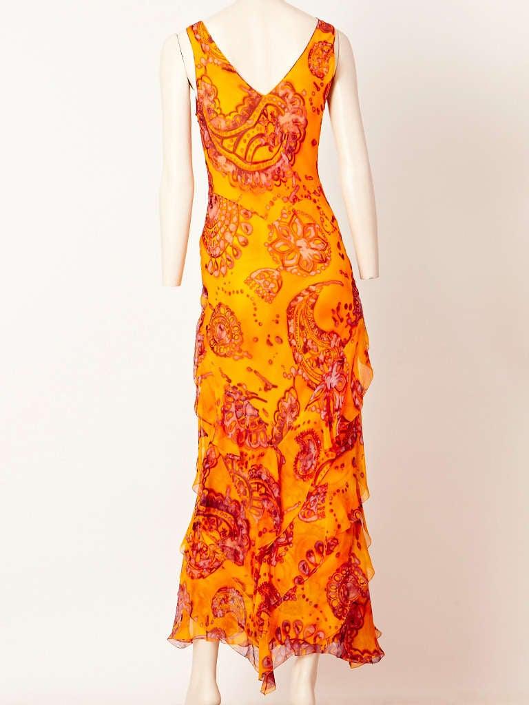 John Galliano Bias Cut Chiffon Dress 3