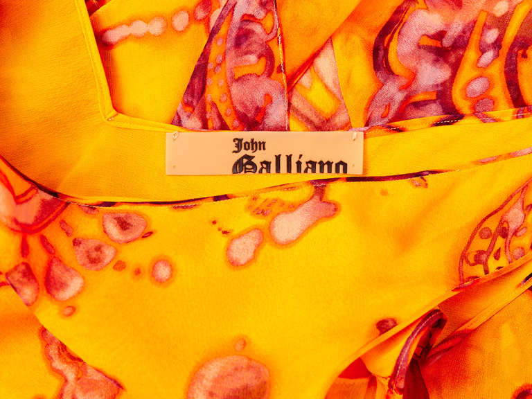 John Galliano Bias Cut Chiffon Dress 4