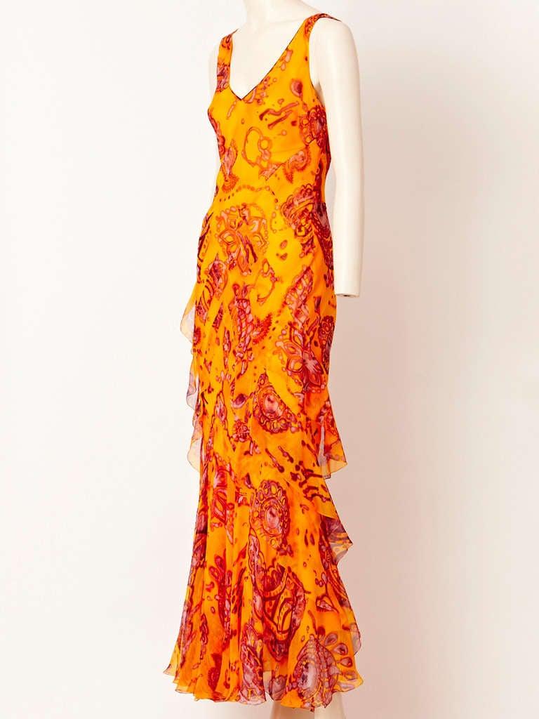 John Galliano Bias Cut Chiffon Dress 2
