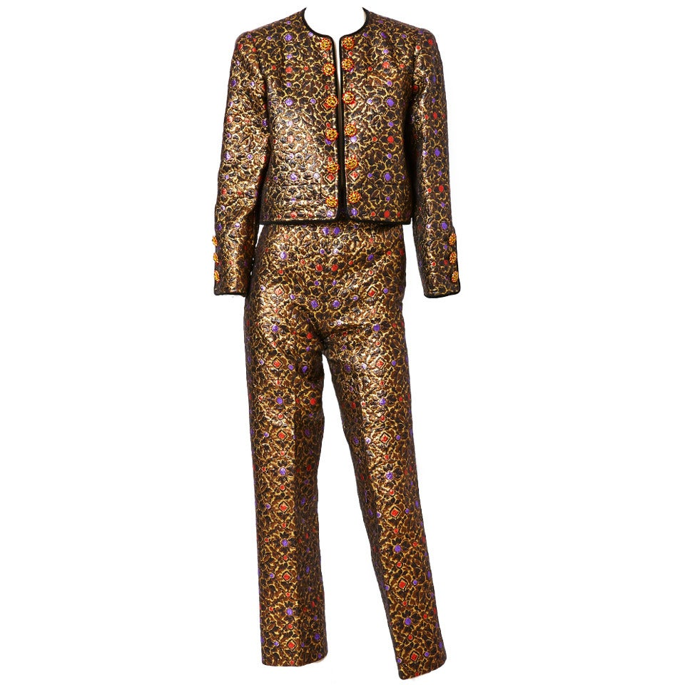 Yves Saint Laurent Brocade Dinner Suit 1