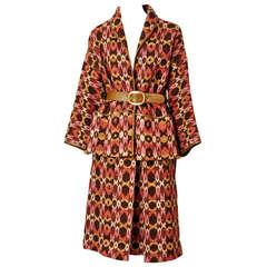 Bonnie Cashin Wool Jacquard Belted Suit