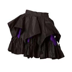 Angelo Tarlazzi Taffeta Tiered Mimi Skirt