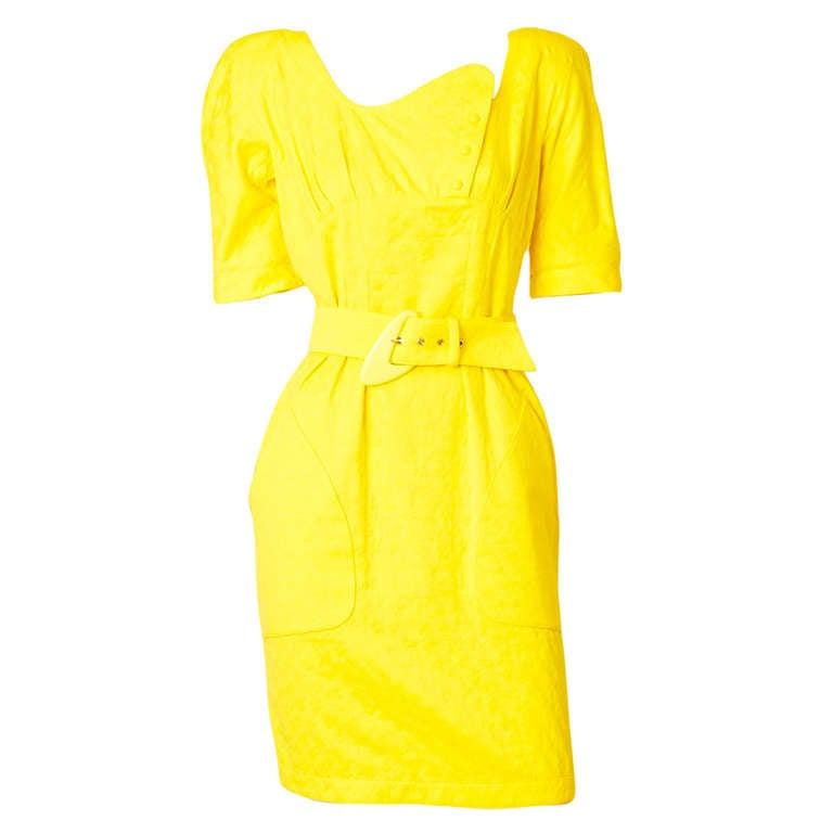 Thierry Muglar Belted Summer Dress For Sale