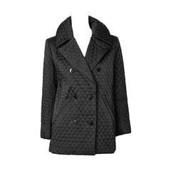 Yves Saint Laurent Quilted Pea Coat
