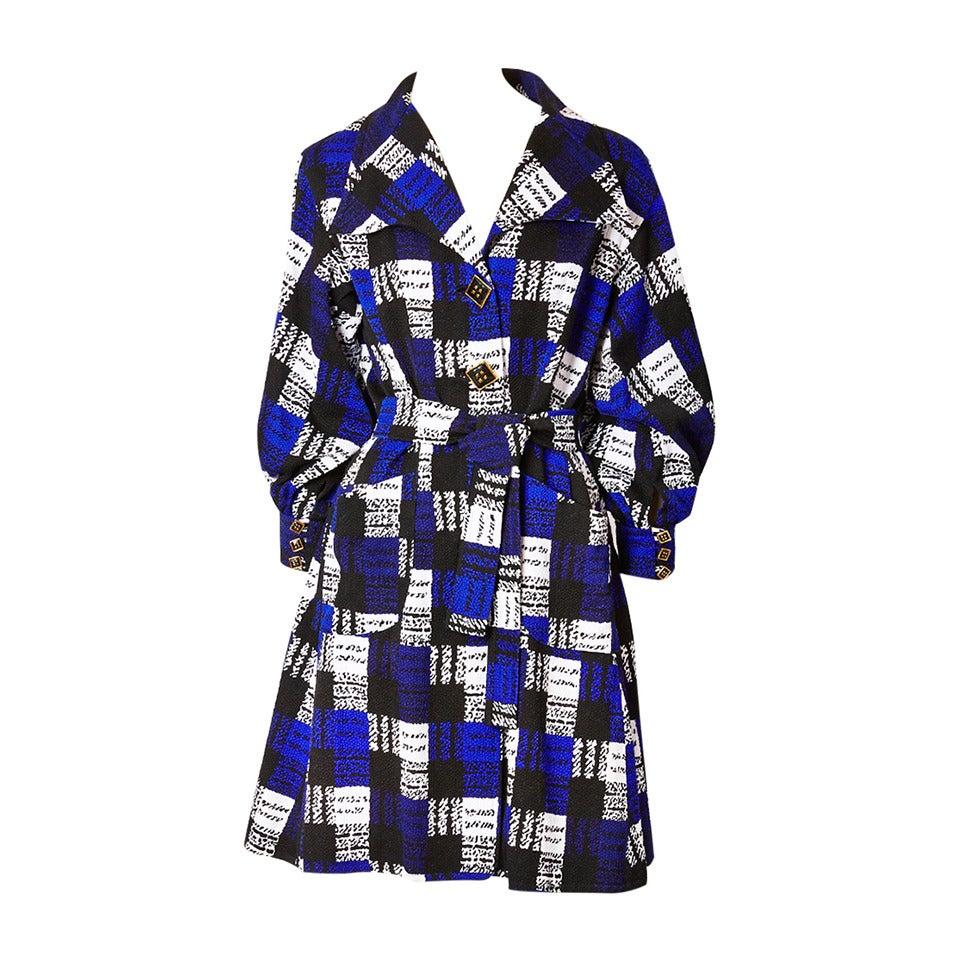 Christian LaCroix Graphic Print Coat Dress