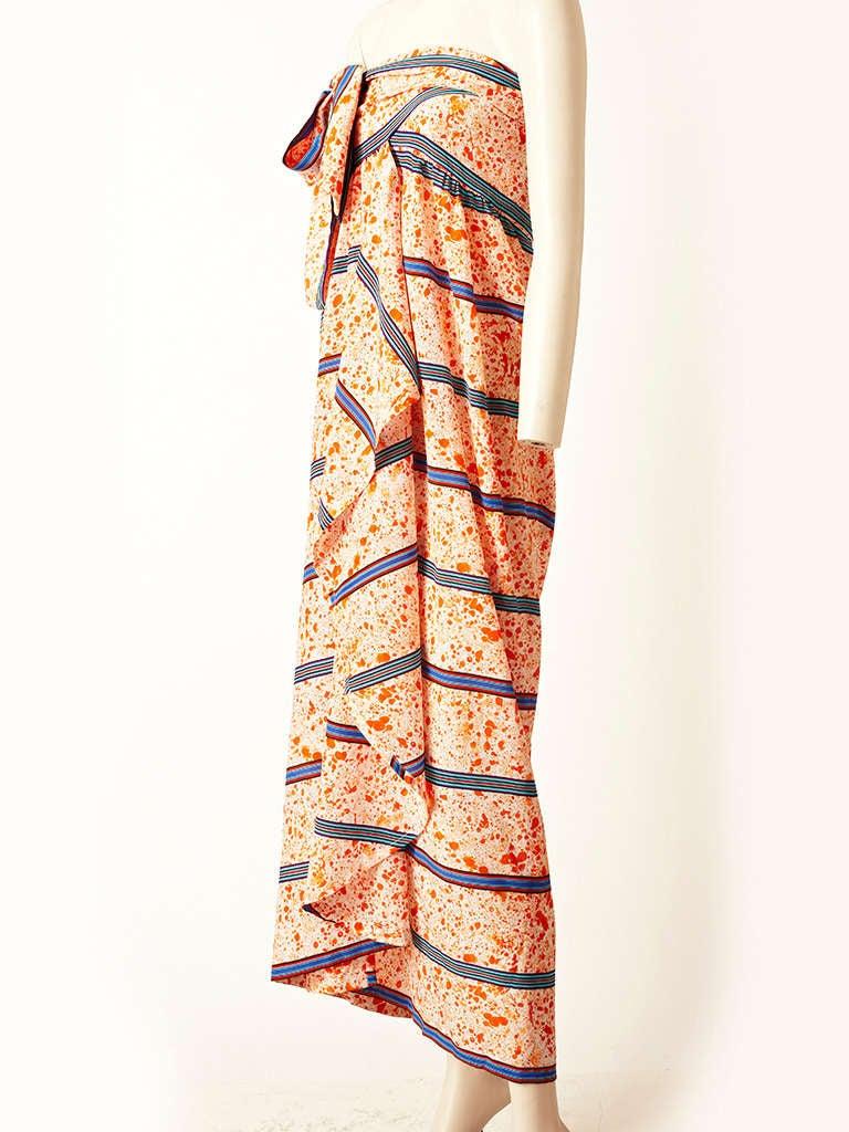 Lanvin Silk Sarong Dress 2