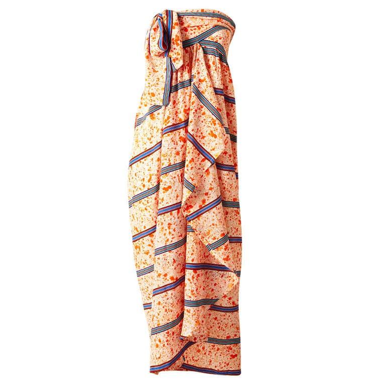 Lanvin Silk Sarong Dress 1