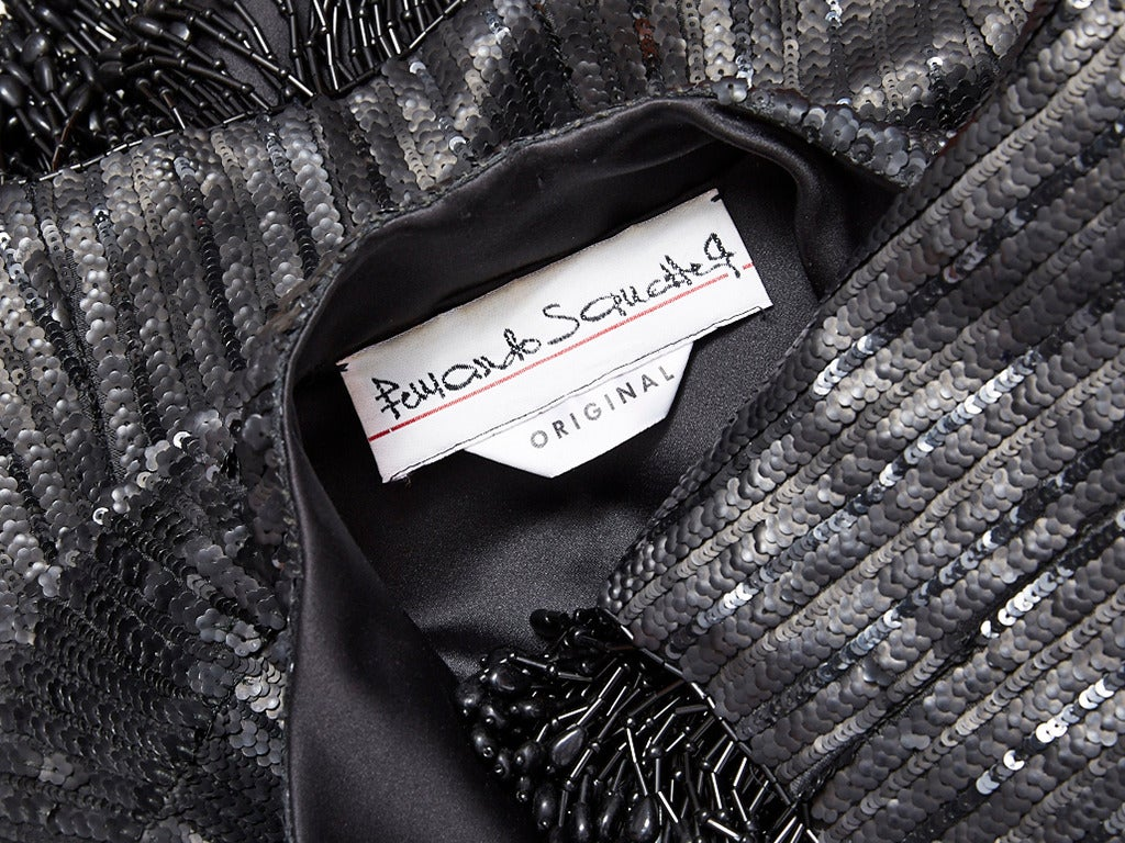 Fernando Sanchez Sequined and Beaded Cropped Evening Jacket In Excellent Condition For Sale In New York, NY