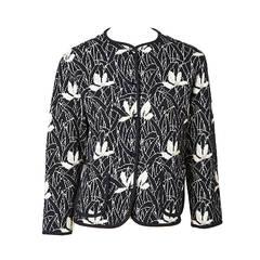 Yves Saint Laurent Floral Knit Cardigan