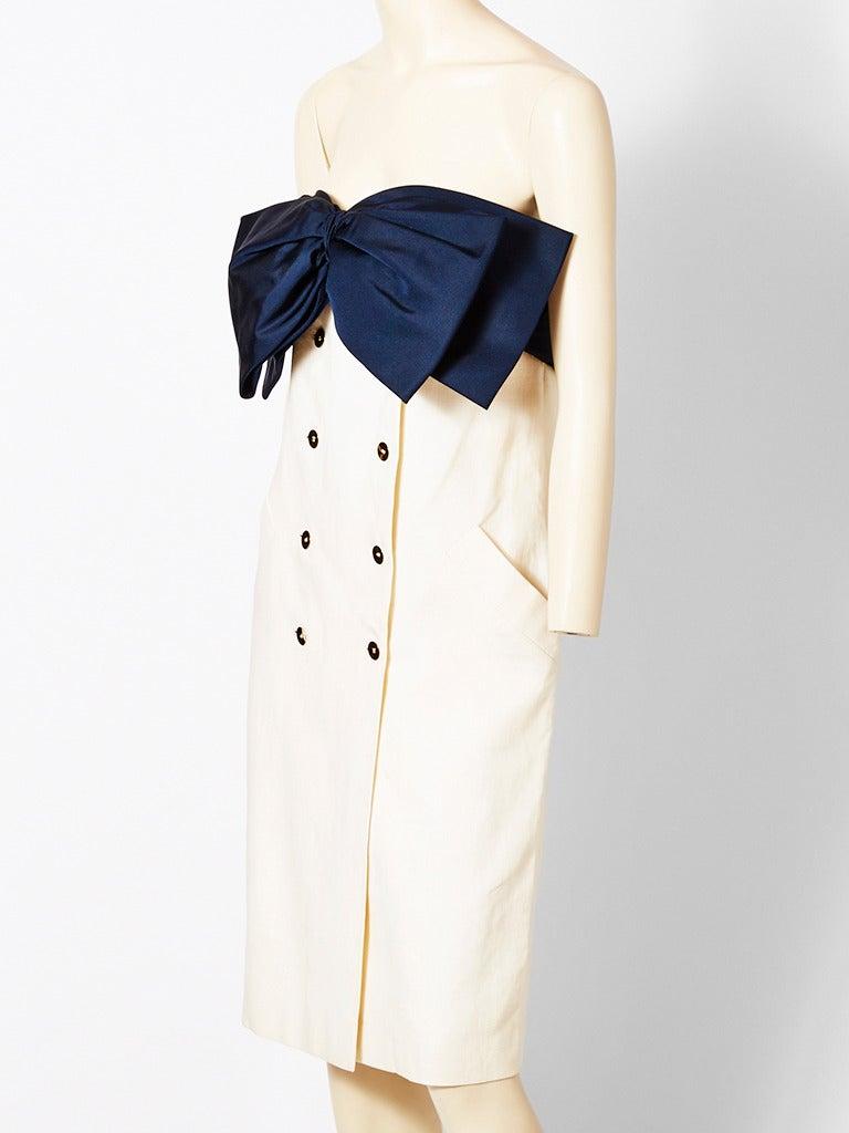 Bill Blass Strapless Bow Dress 2