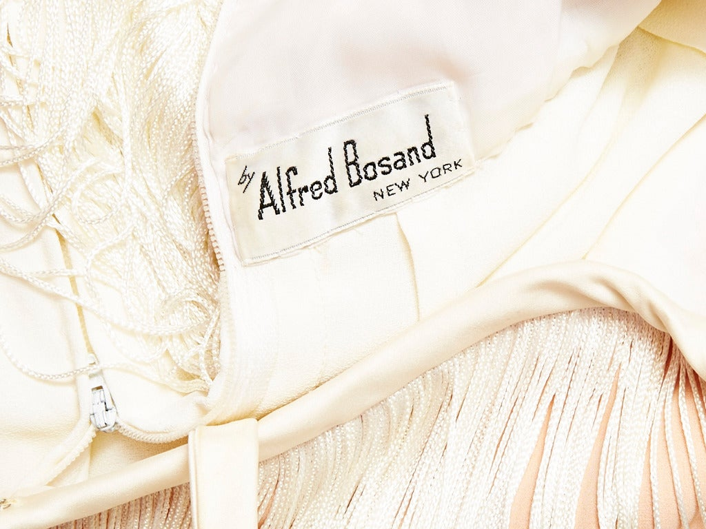 Alfred Bosand Ivory Fringed Gown 4