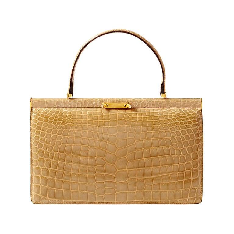 Taupe Crocodile Handbag