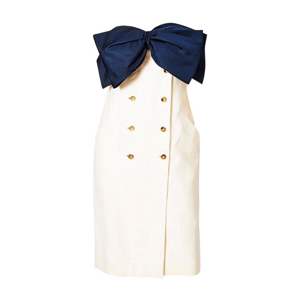 Bill Blass Strapless Bow Dress 1