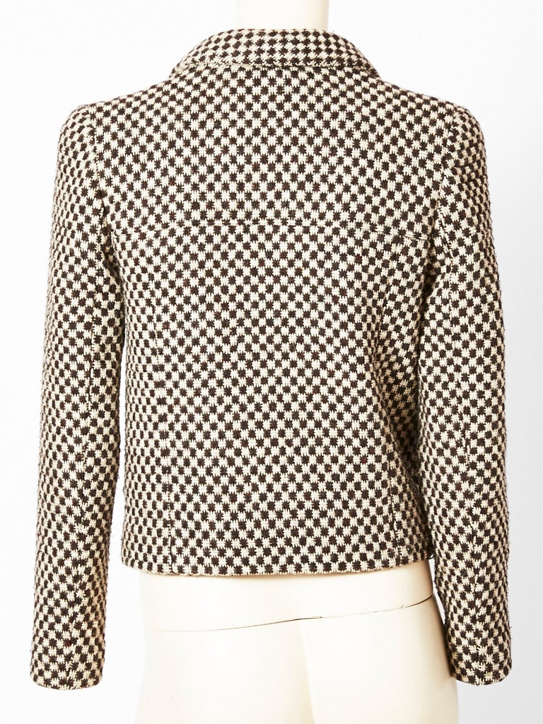Chanel Tweed Cropped Jacket In Excellent Condition For Sale In New York, NY