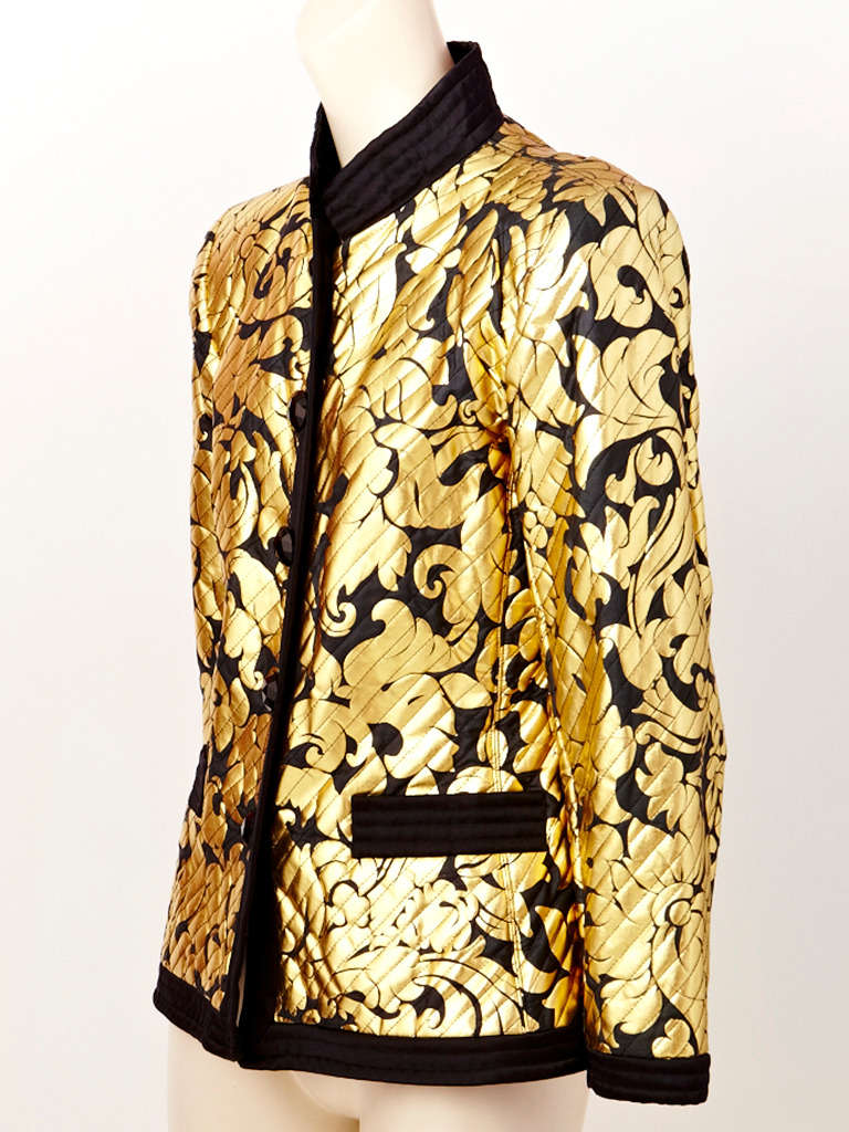 d0382e04 Yves Saint Laurent Black and Gold Evening Jacket