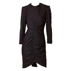 Jean Louis Scherrer Shirred Cocktail Dress