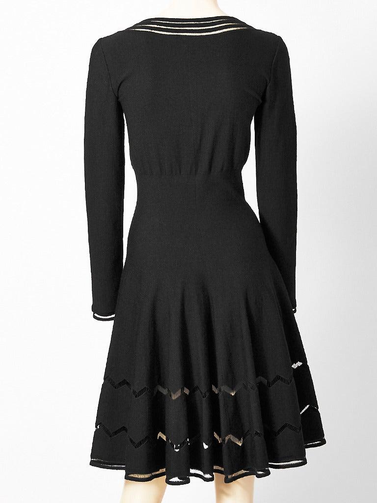 Black Alaia Wool Knit Dress For Sale