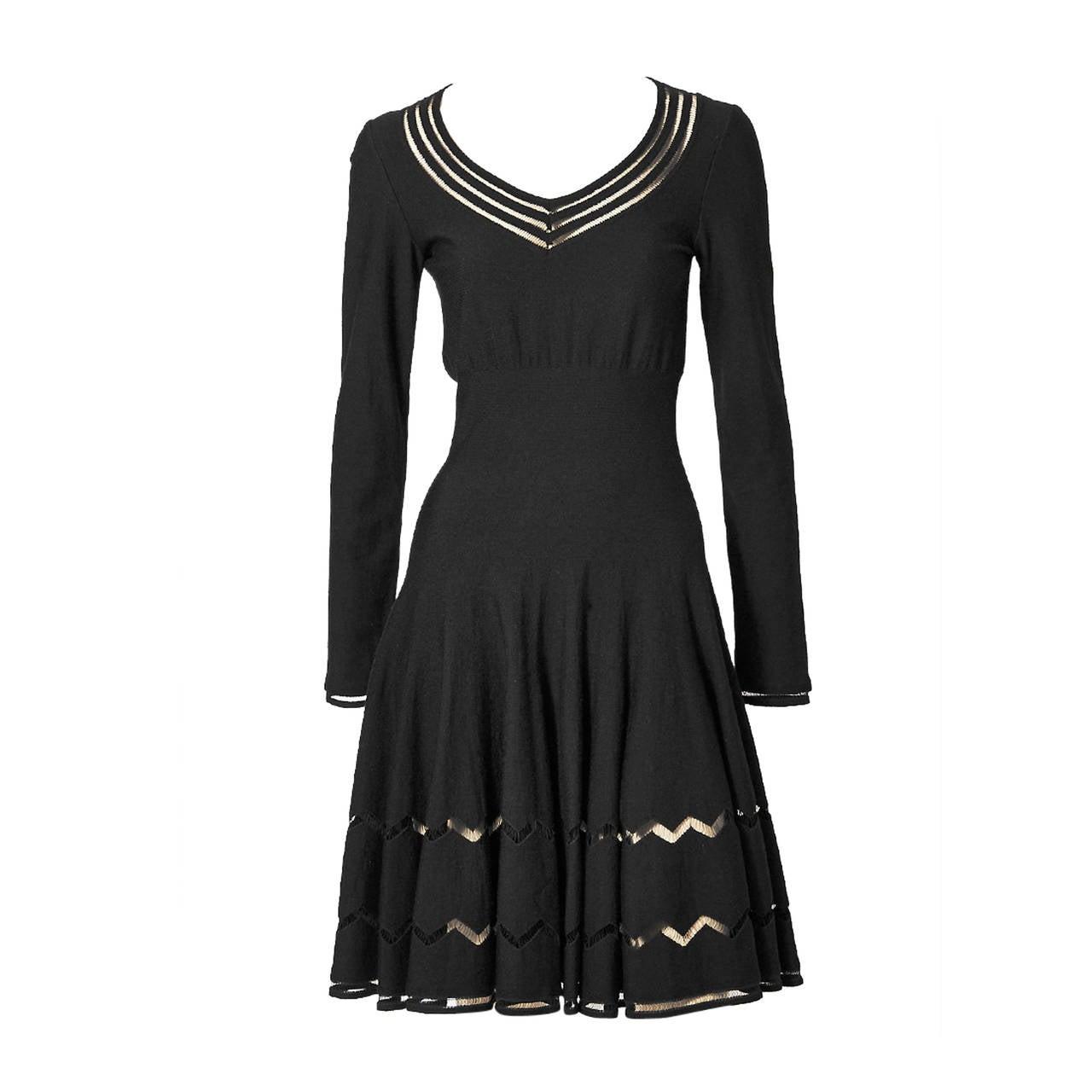 Alaia Wool Knit Dress