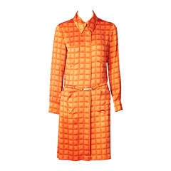 Chanel Silk Charmeuse Shirt Dress