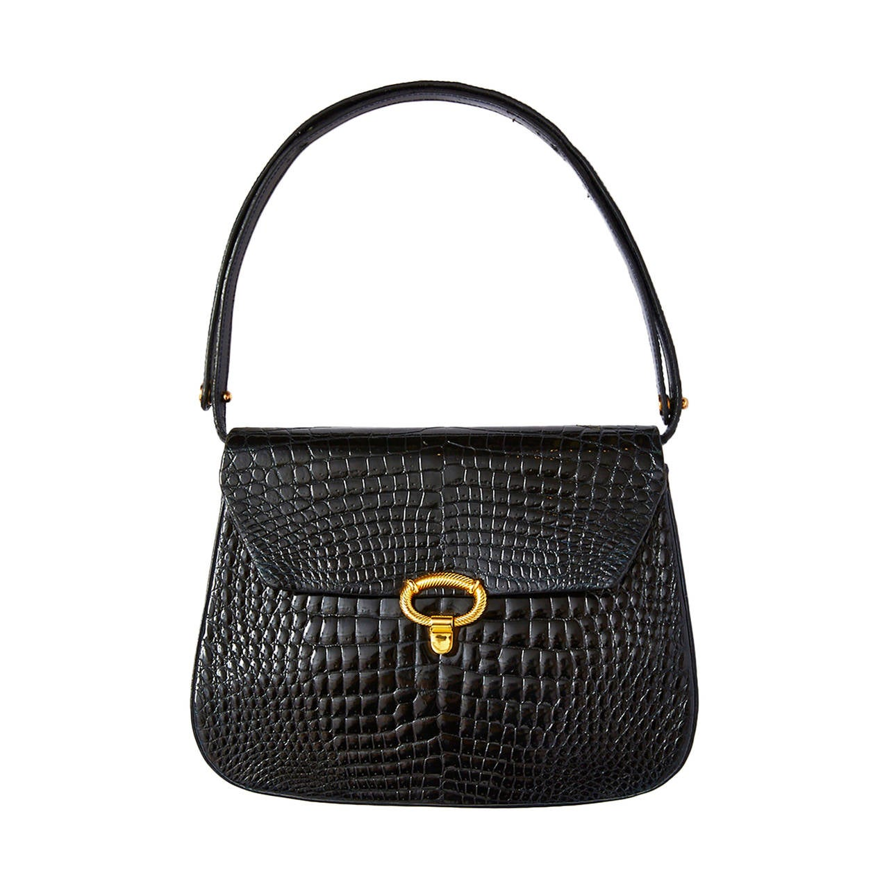1stdibs Phynes Black Leather Handbag With Attachable Shoulder Straps wPiVZgWx