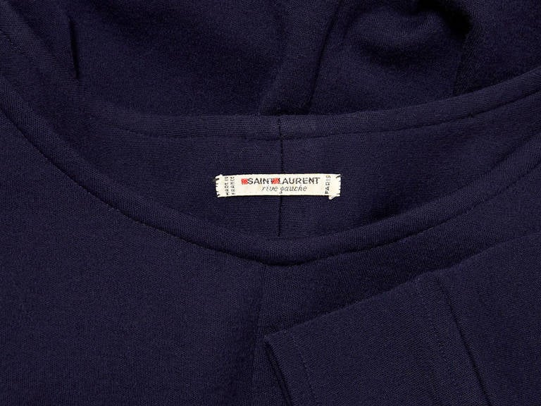 Yves Saint Laurent Navy Wool Knit Tunic 4