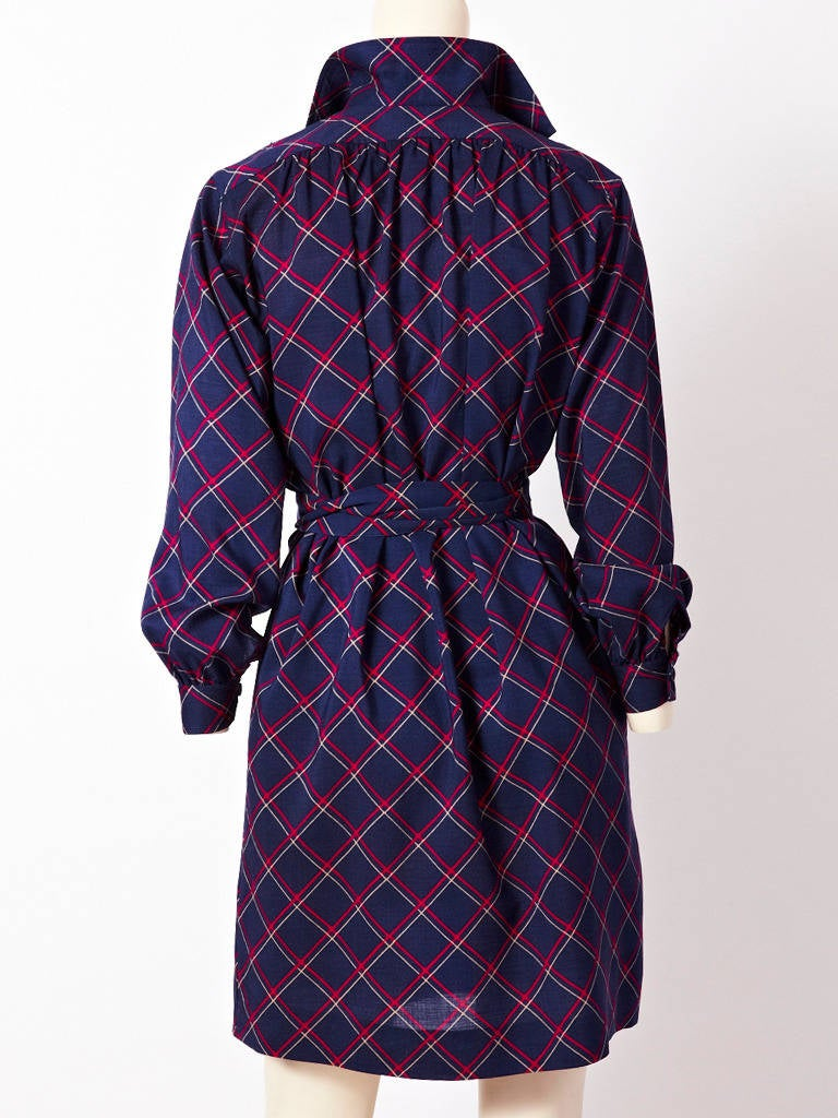 YSL Plaid Shirt Dress 3