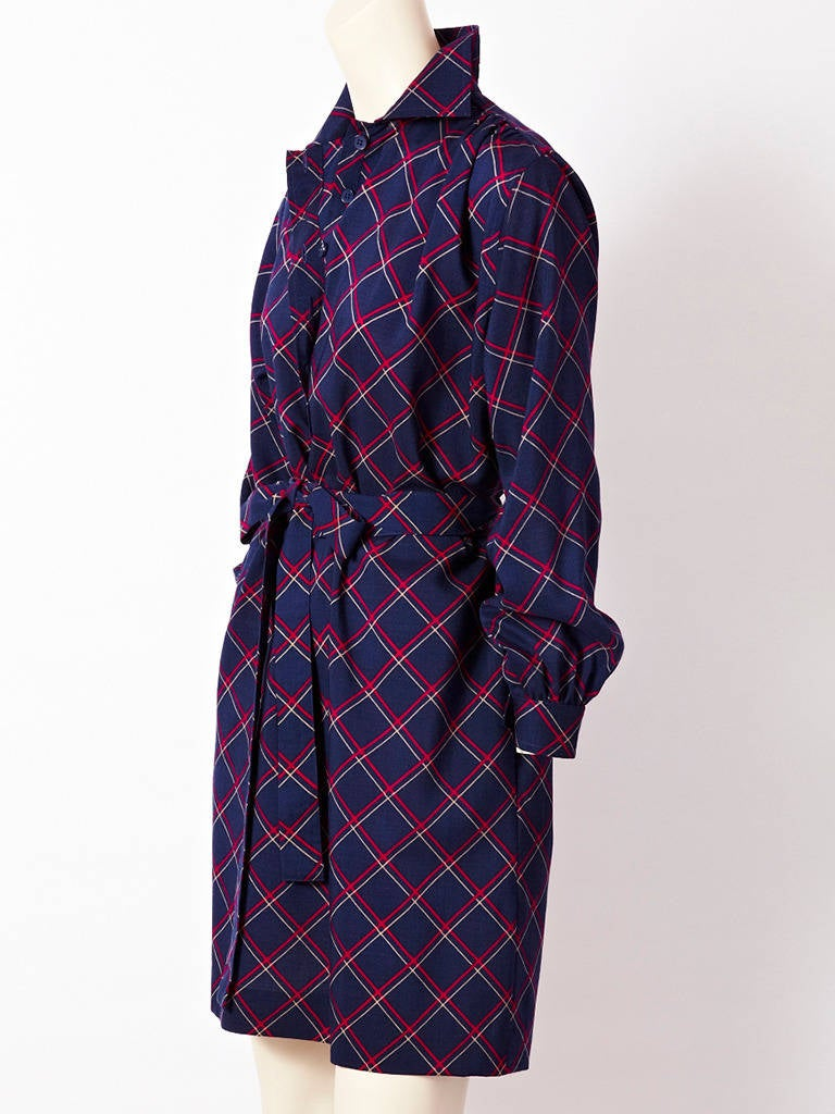 YSL Plaid Shirt Dress 2