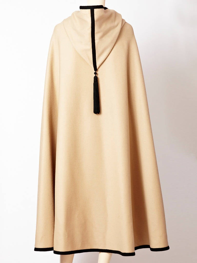 YSL Moroccan Inspired Hooded Cape In Excellent Condition For Sale In New York, NY