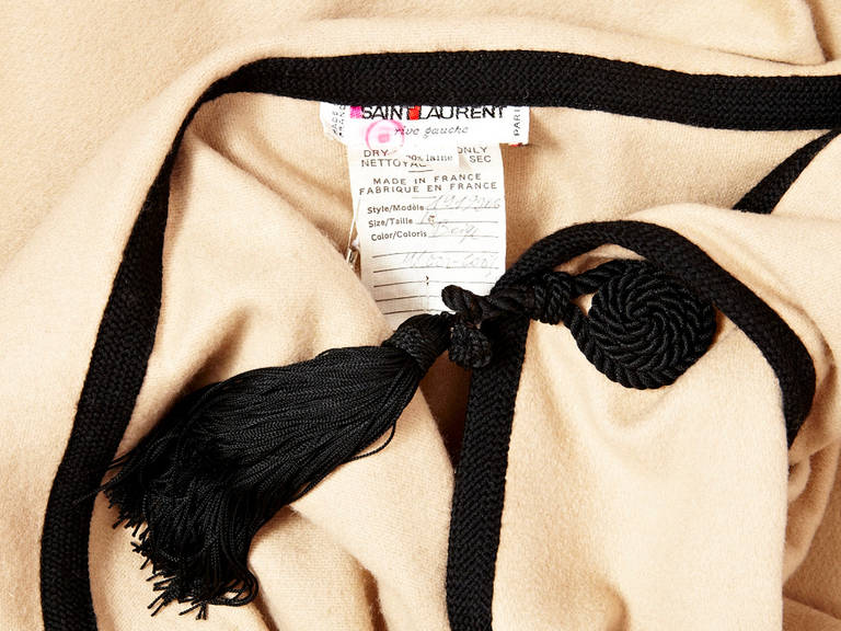 Women's YSL Moroccan Inspired Hooded Cape For Sale