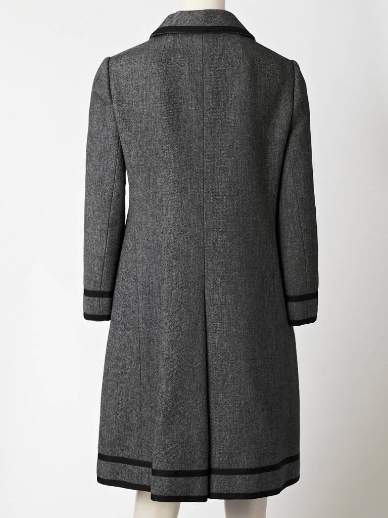 Black Goeffrey Beene Wool Coat Dress For Sale