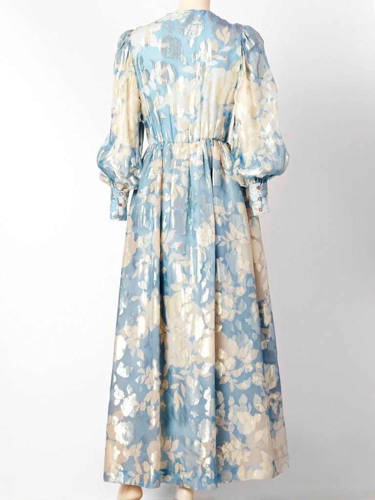 Hanae Mori Floral Chiffon Dress 3