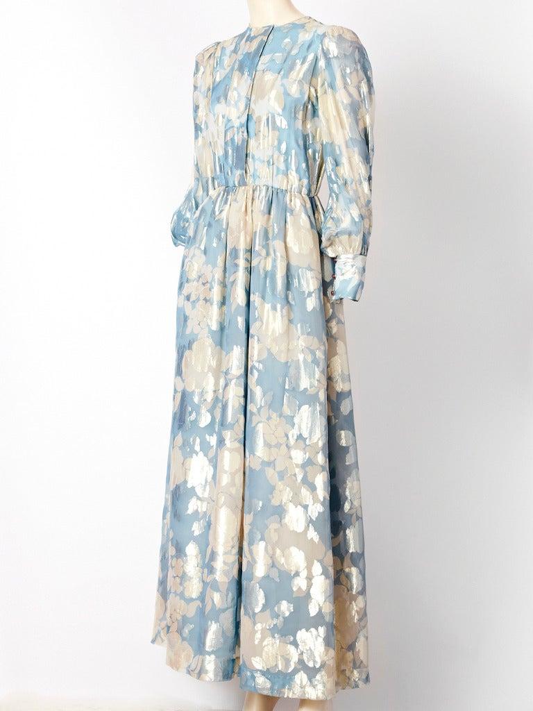 Hanae Mori Floral Chiffon Dress 2
