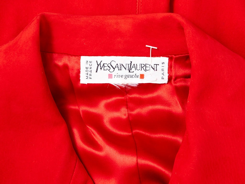 Yves Saint Laurent Suede Vest With Passementerie In Excellent Condition For Sale In New York, NY