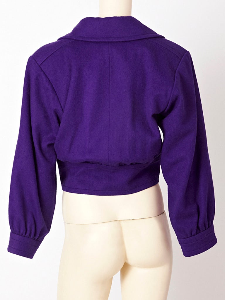 Purple Yves Saint Laurent Blouson Jacket For Sale