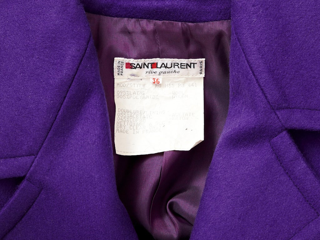 Yves Saint Laurent Blouson Jacket In Excellent Condition For Sale In New York, NY
