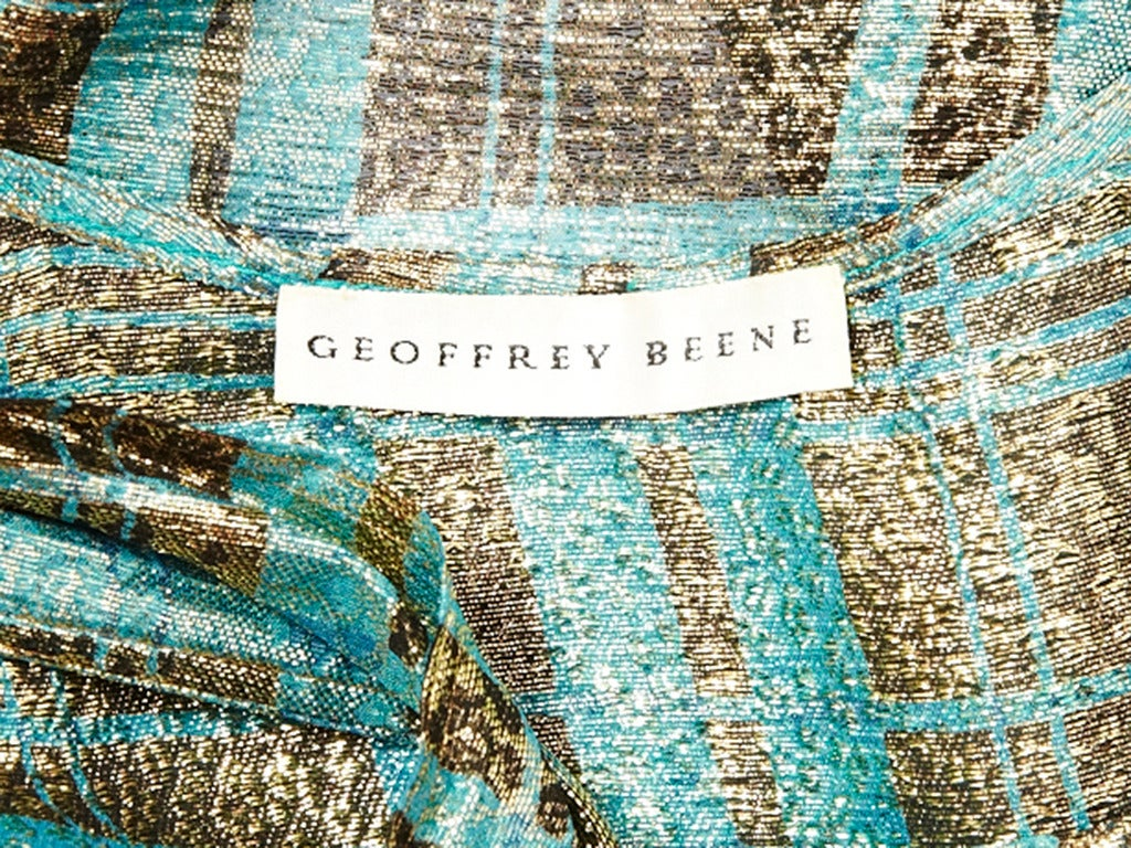 Geoffrey Beene Gold Lame Ensemble In Excellent Condition For Sale In New York, NY