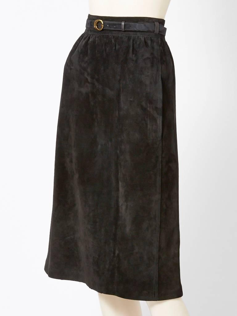 Gucci Suede Skirt C. 1970u0026#39;s at 1stdibs