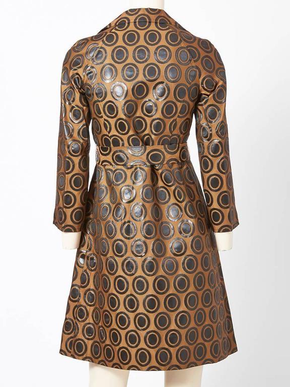 Brown Tiktiner Printed Raincoat For Sale