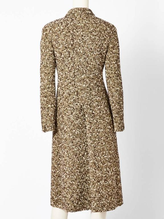 Brown Valentino Fitted Tweed Coat For Sale