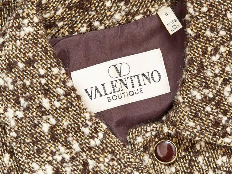 Valentino Fitted Tweed Coat In Excellent Condition For Sale In New York, NY