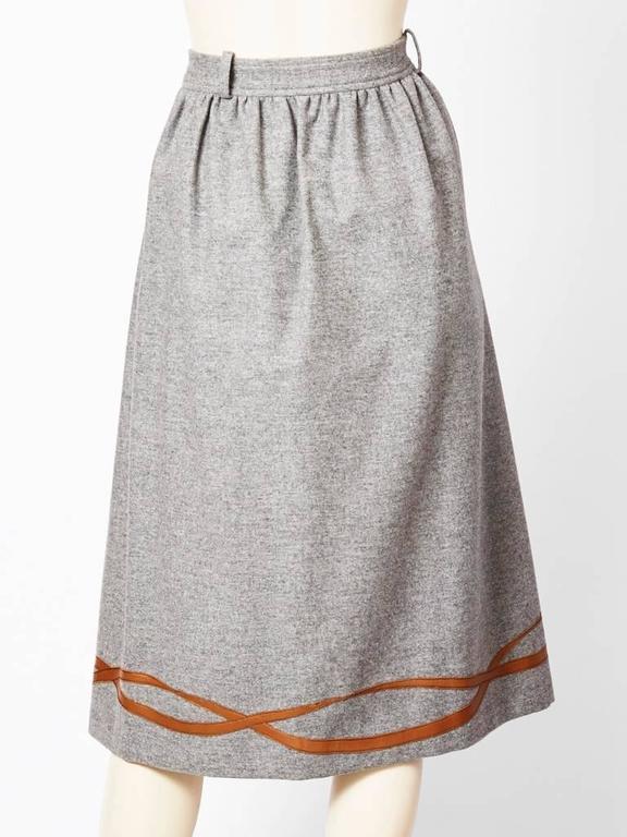Grey Flannel Skirt 114