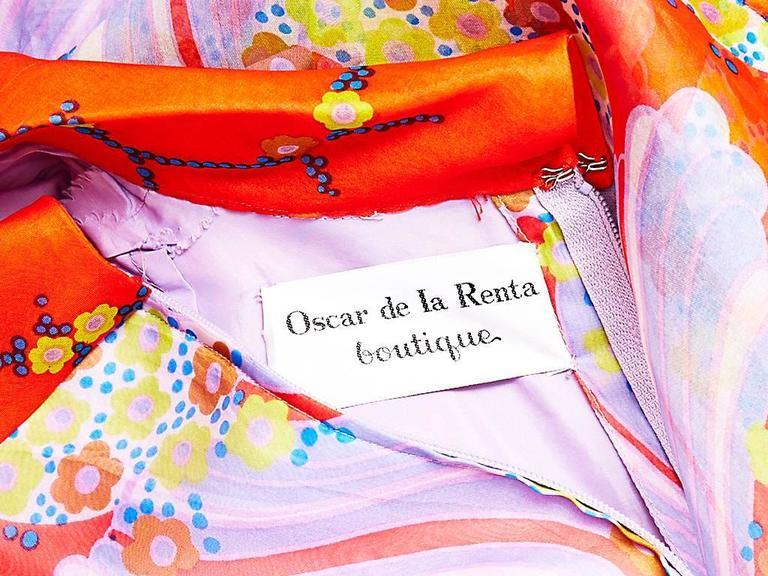 Oscar de La Renta Organza Shirt Dress 1970's 4