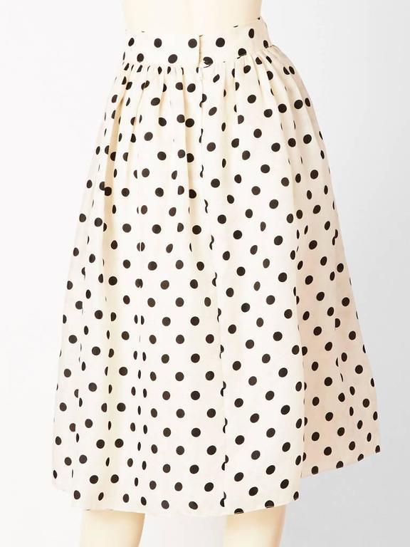 Beige Valentino Organza Polka Dot Skirt  For Sale